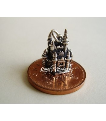 Fairytale Castle Opening to Mouse Sterling Silver Charm