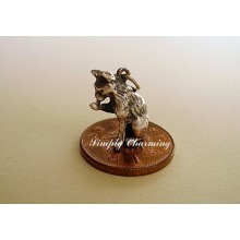 Cat Licking Paw Sterling Silver Charms
