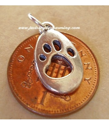 Cat Paw Print Sterling Silver Charms