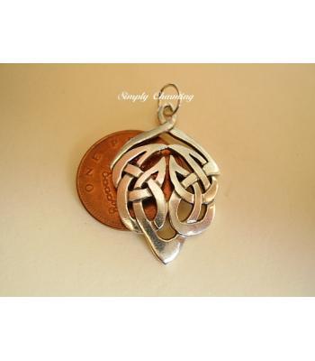 Celtic Leaf Sterling Silver pendant