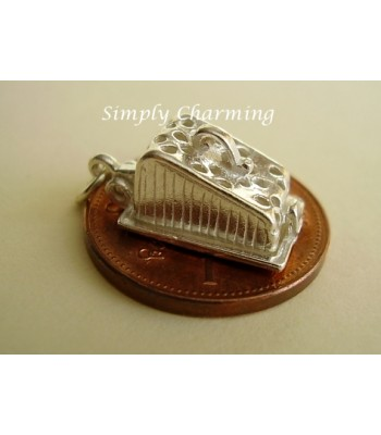 Sterling Silver Charms - Cheese Dish Opening to Mouse Charm