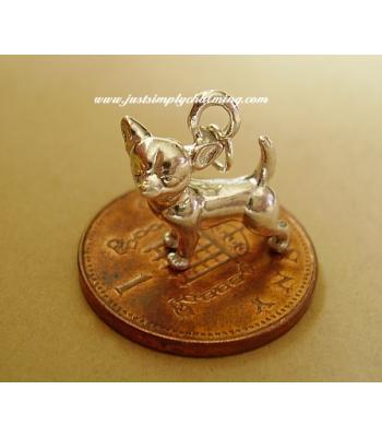 Chihuahua Sterling Silver Charm