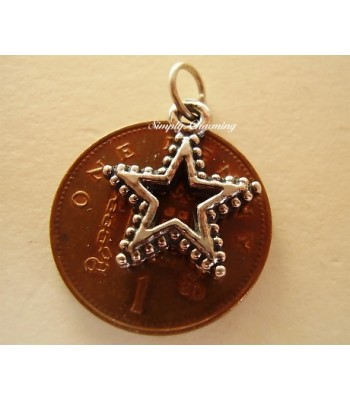 Sterling Silver Charms - Christmas Star Charm