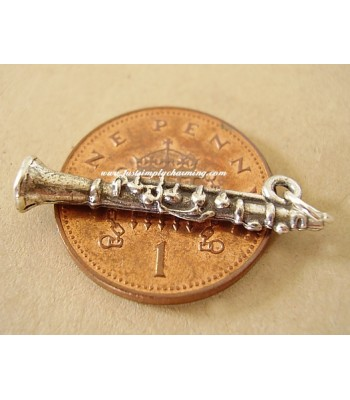 Sterling Silver Clarinet Charm