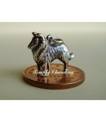 Collie Dog Sterling Silver Charm
