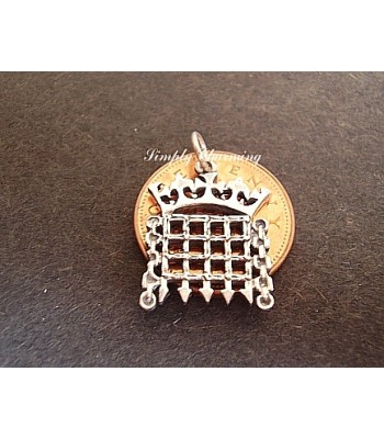 House of Commons Symbol Sterling Silver Charm