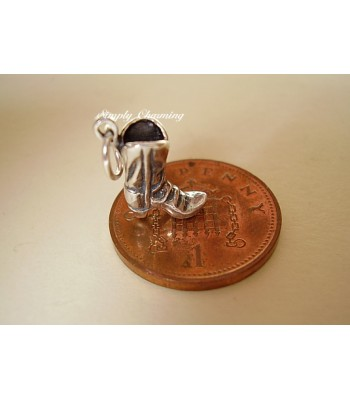Cowboy Boot Sterling Silver Charm