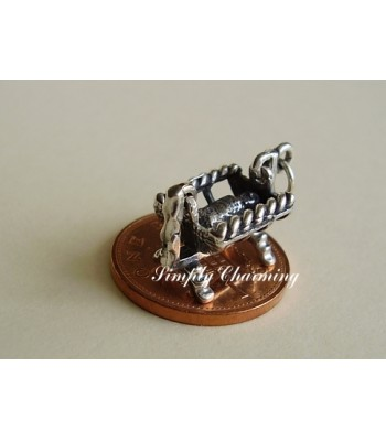 Cradle Moving Sterling Silver Charm