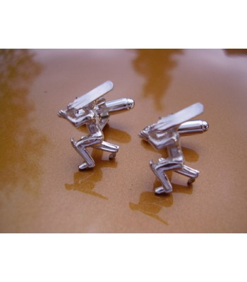 Sterling Silver Cricketer Cufflinks