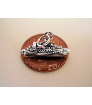 Cruise Liner Sterling Silver Charm