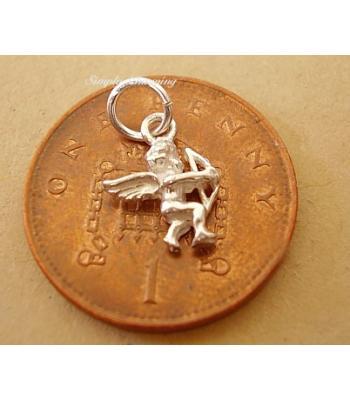 Miniature Cupid Silver Charm