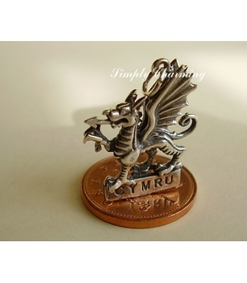 Welsh Dragon Sterling Silver Charm