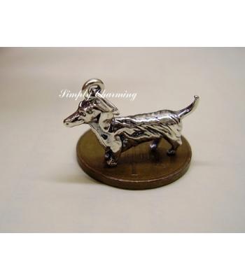 Dachsund Sterling Silver Charm