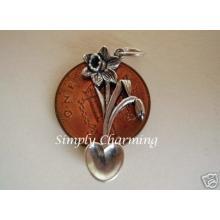 Daffodil Lovespoon Sterling Silver Charm