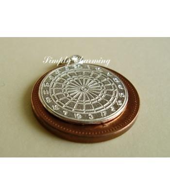 Dartboard Sterling Silver Charm