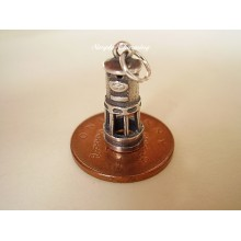 Miners Davy Lamp Sterling Silver Charm