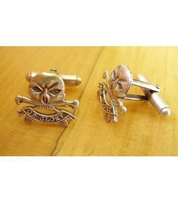 Sterling Silver British 17th / 21st Lancers Regiment Cufflinks
