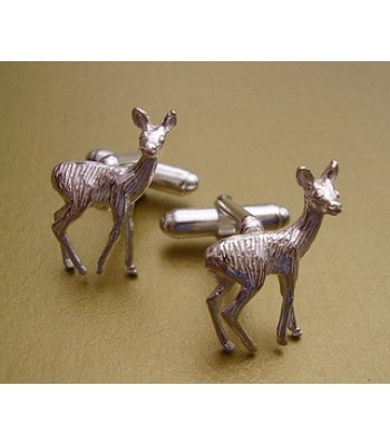 Sterling Silver Deer Cufflinks