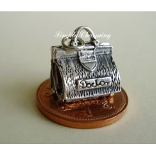 Doctors Bag Opening to Baby Sterling Silver Charm