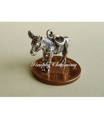 Donkey Sterling Silver Charm