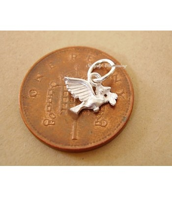 Miniature Dove of Peace Silver Charm
