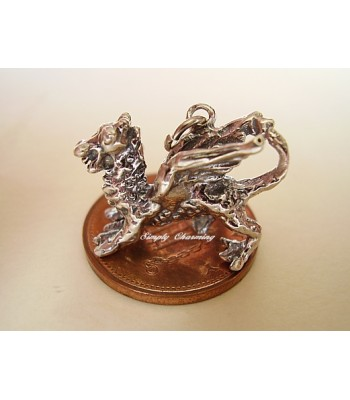 Dragon Sterling Silver Charm