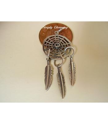 Dream Catcher Sterling Silver Pendant