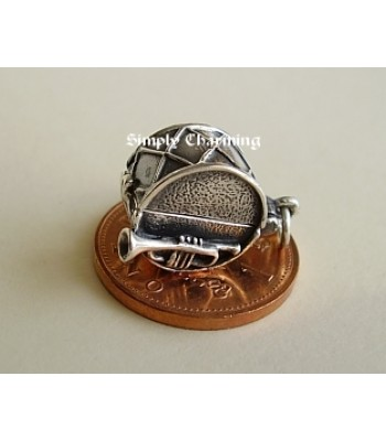 Drum Opening Sterling Silver Charm