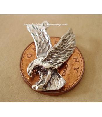Eagle Bird of Prey Sterling Silver Charm