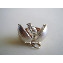 Easter Egg Chicken Sterling Silver Charm
