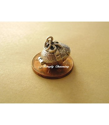 Easter Egg with Bow Opening to Goose Sterling Silver Charm
