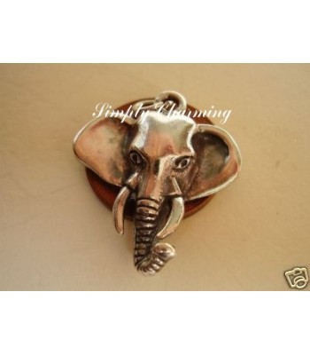 Elephants head Sterling Silver Charm