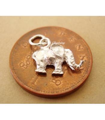 Miniature Elephant Silver Charm