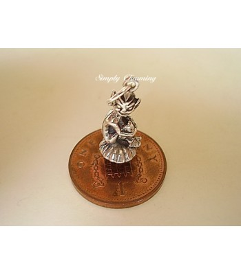 Elf on Toadstool Sterling Silver Charm
