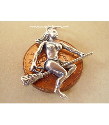 Enchantress Witch Sterling Silver Charm or Pendant