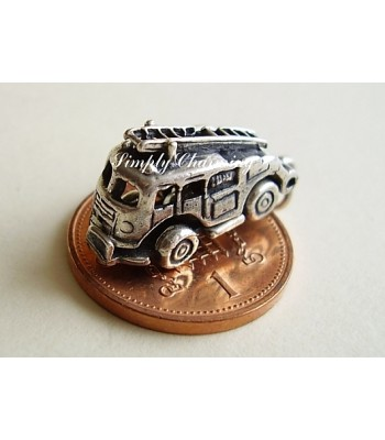 Fire Engine Opening Sterling Silver Charm