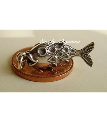 Fish with Moving Body Sterling Silver Charm