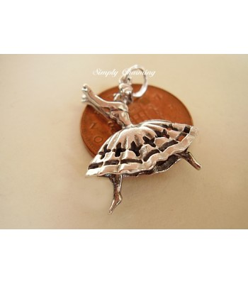 Flamenco Dancer Sterling Silver Charm