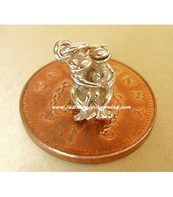Cuddling Frogs Sterling Silver Charm