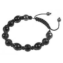 Black Onyx Shamballa Style Hematite Bracelet