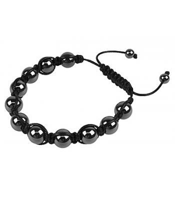 Grey Coloured Hematite Shamballa Style Mirror Ball Bracelet