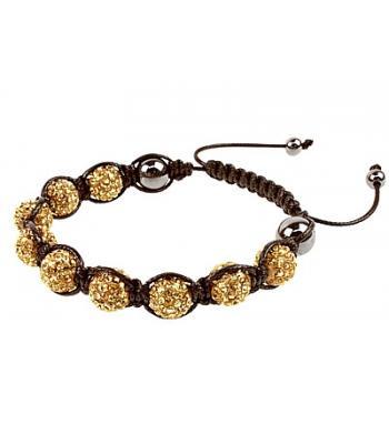 Gold Coloured Shamballa Style Hematite Bracelet