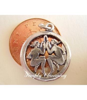 Gemini Zodiac Sterling Silver Charm