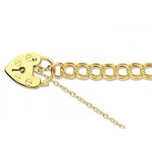9ct Gold Traditional Charm Bracelet 7.5