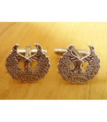 Sterling Silver British Military Gordon Highlanders Cufflinks