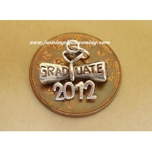Graduation Diploma 2012 Sterling Silver Charm