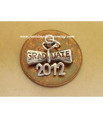 Graduation Diploma 2012 Sterling Silver Charm
