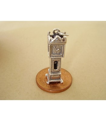Grandfather Clock Opening Sterling Silver Charm