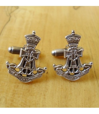 Sterling Silver British Military The Green Howards Cufflinks