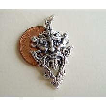Green Man Sterling Silver pendant